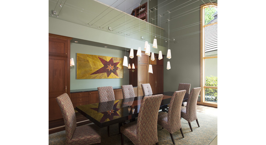 Library loft dining room for Loft dining room ideas